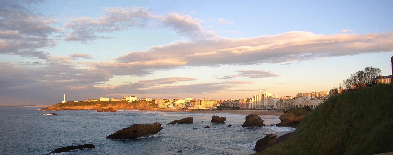 promenade littorale partir du phare de biarritz. Black Bedroom Furniture Sets. Home Design Ideas