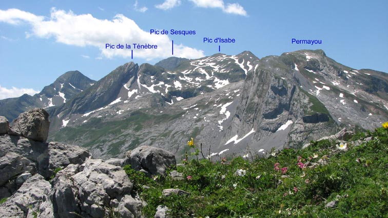 Le massif de Sesques.